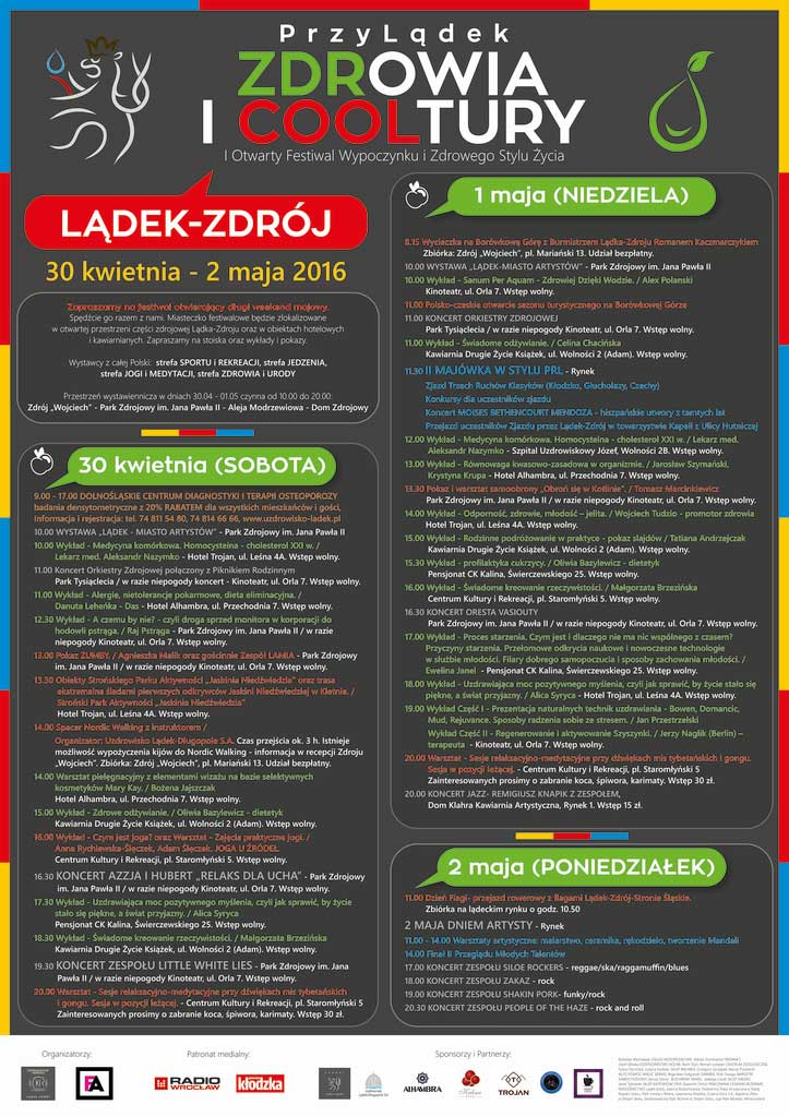 I Otwarty Festiwal Wypoczynku i Zdrowego Stylu Życia 30.04 - 02.05.2016